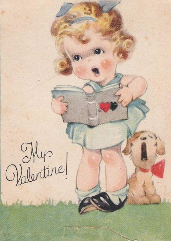 Valentijnskaarten - Oude valentijnskaart My Valentine