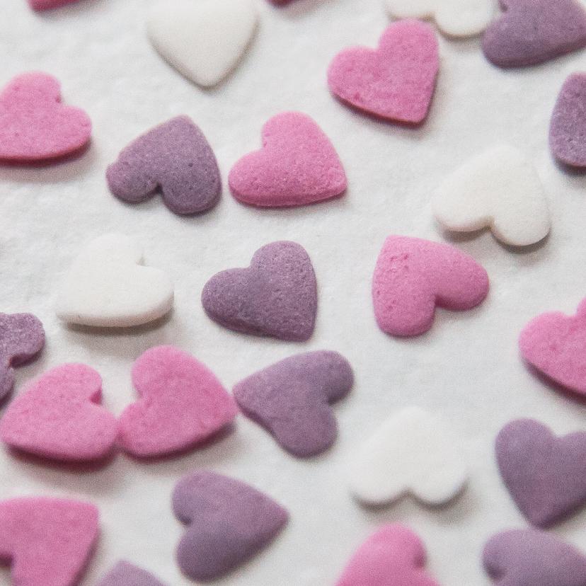 Valentijnskaarten - snoepje hartje zoetje