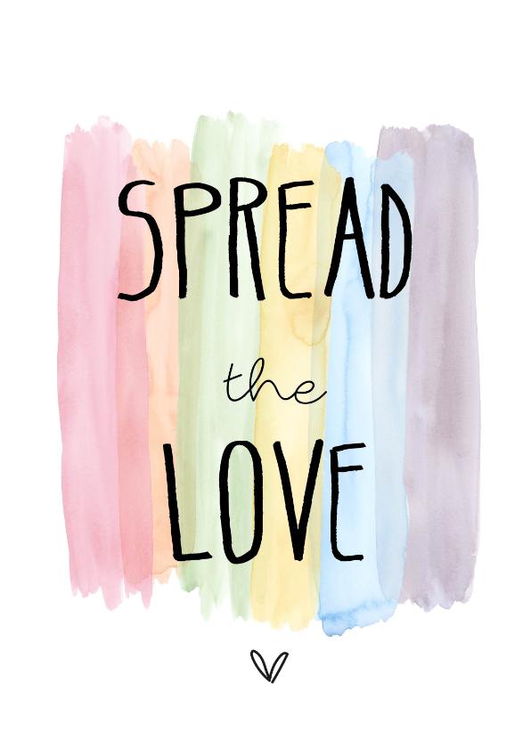 Valentijnskaarten - Spread the love, kleurtjes