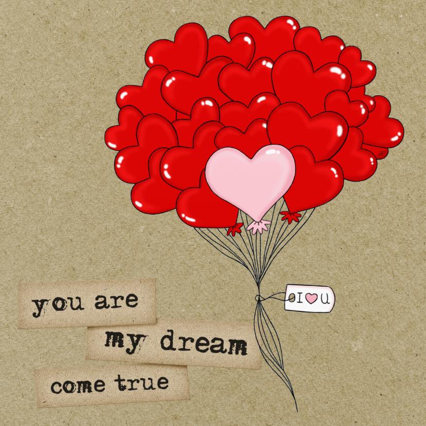 Valentijnskaarten - Valentijn Dream Come True - TJ