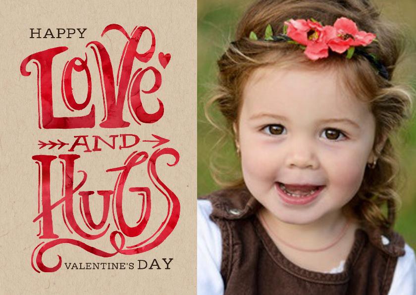 Valentijnskaarten - Valentijn Love & Hugs Trendy