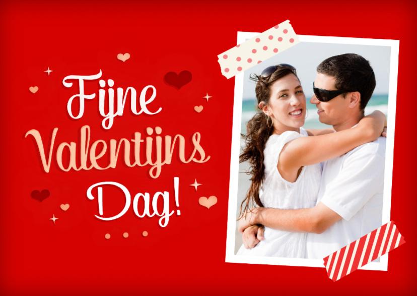 Valentijnskaarten - Valentijn rood foto hartjes