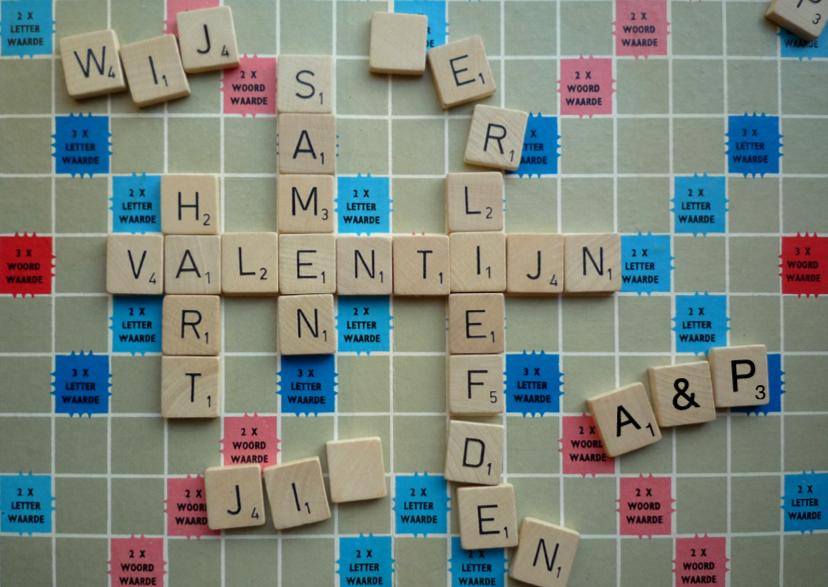 Valentijnskaarten - Valentijn scrabble - wordfeud