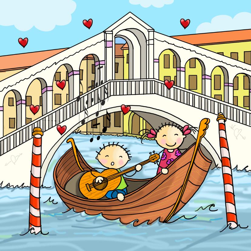 Valentijnskaarten - Valentijn Venetie gondel