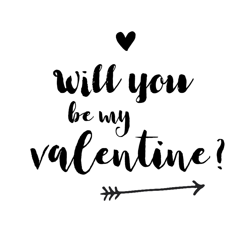 Valentijnskaarten - Valentijn - will you be my valentine?