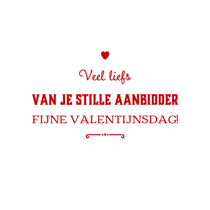 Valentijnskaarten - valentijnskaart aanbidder - LB