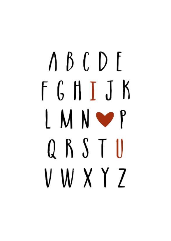 Valentijnskaarten - Valentijnskaart abc - HM