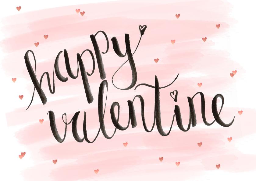 Valentijnskaarten - Valentijnskaart aquarel hip