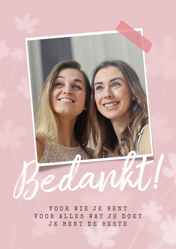 Valentijnskaarten - Valentijnskaart bedankt bloemen foto vriendschap