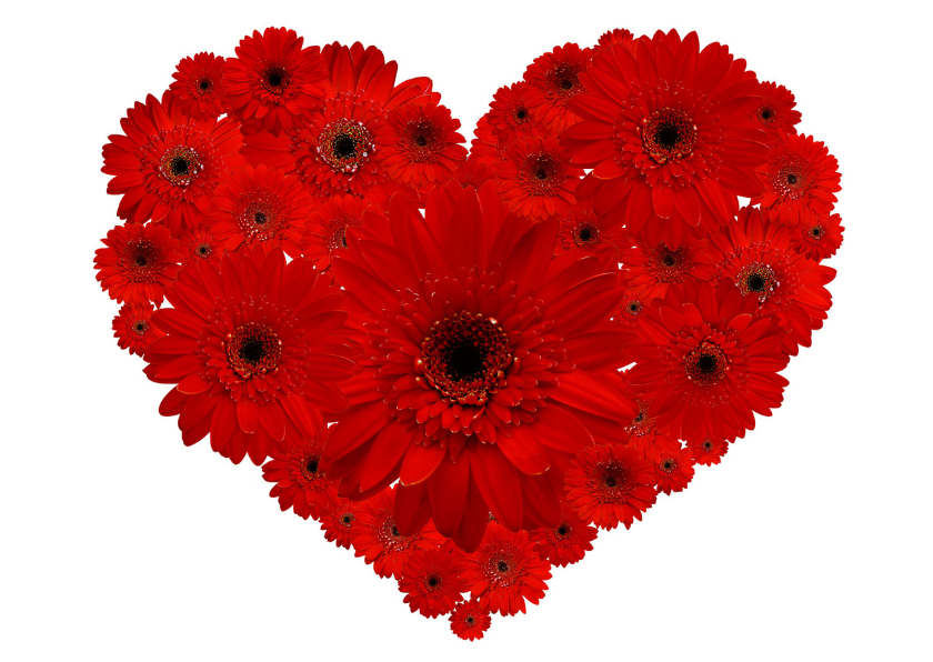 Valentijnskaarten - Valentijnskaart Bloemen Hart