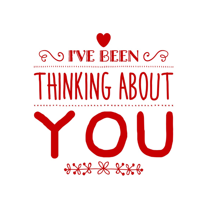 Valentijnskaarten - valentijnskaart denk aan je - LB