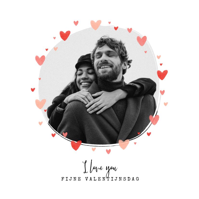 Valentijnskaarten - Valentijnskaart foto hartjes persoonlijk liefde