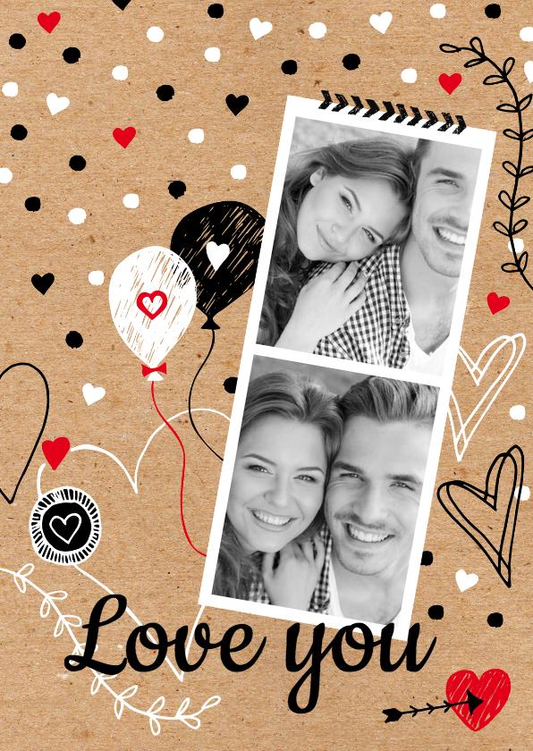 Valentijnskaarten - Valentijnskaart foto zwartwit
