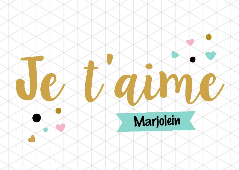Valentijnskaarten - Valentijnskaart Franse tekst
