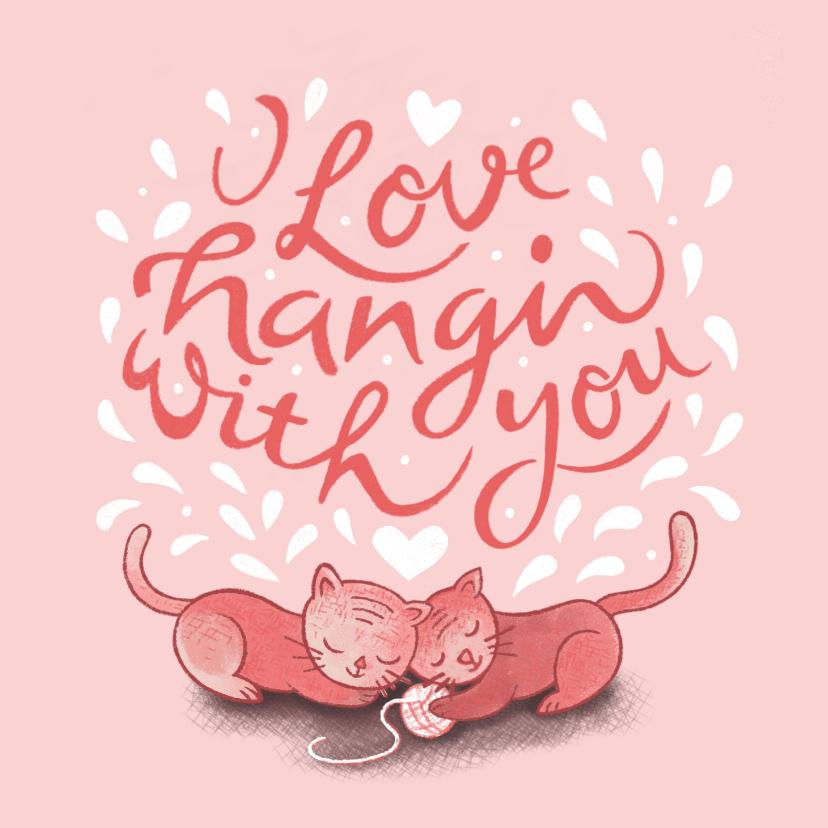 Valentijnskaarten - Valentijnskaart handlettering