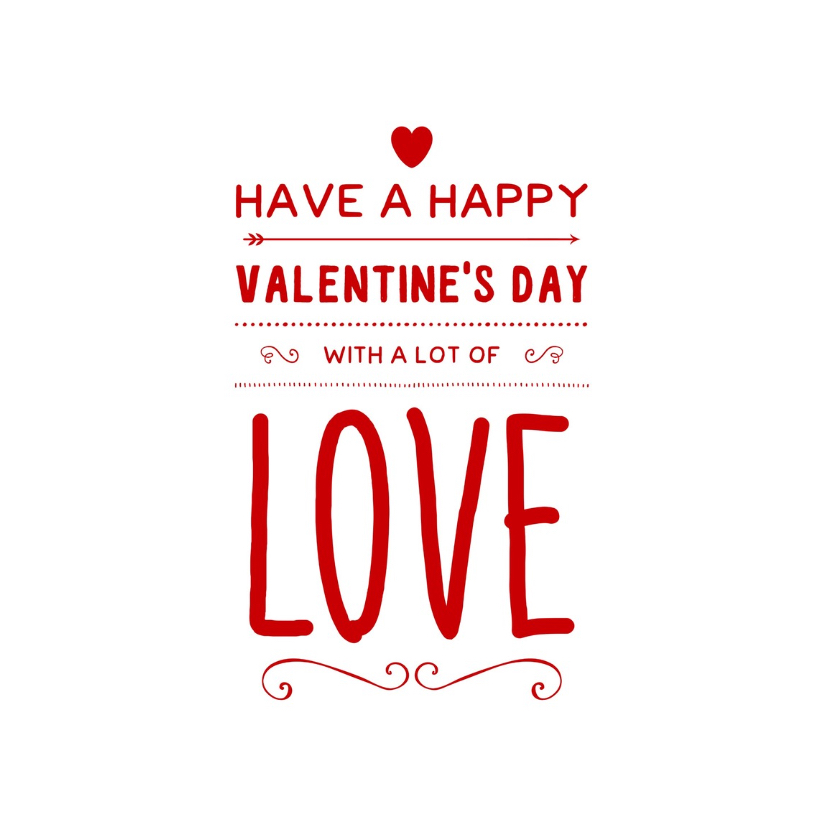 Valentijnskaarten - valentijnskaart happy love - LB