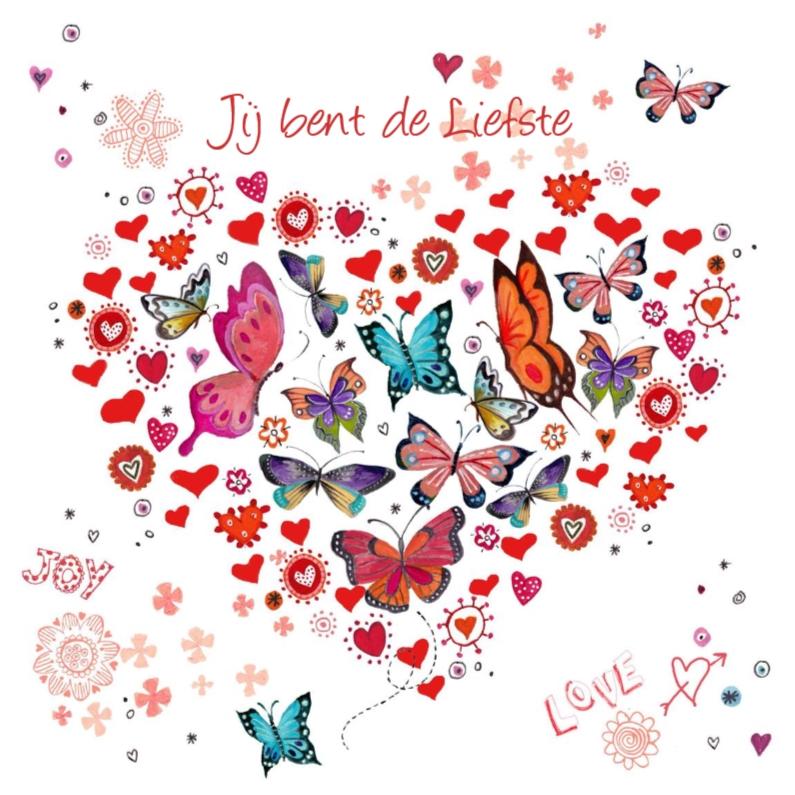 Valentijnskaarten - Valentijnskaart Hart  Vlinders