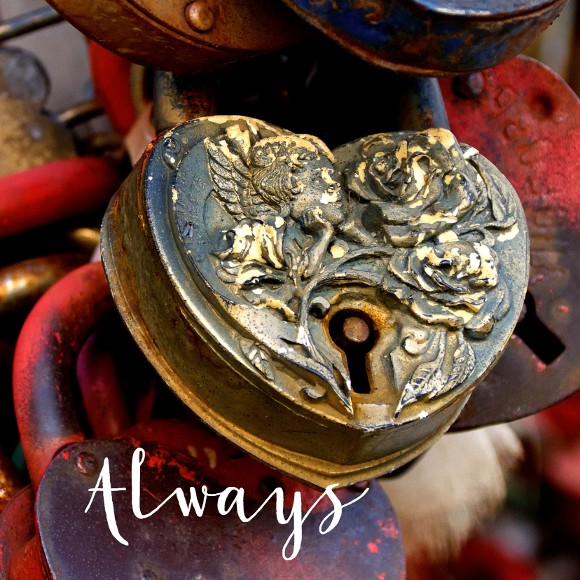 Valentijnskaarten - Valentijnskaart - Liefdes slotjes - OT