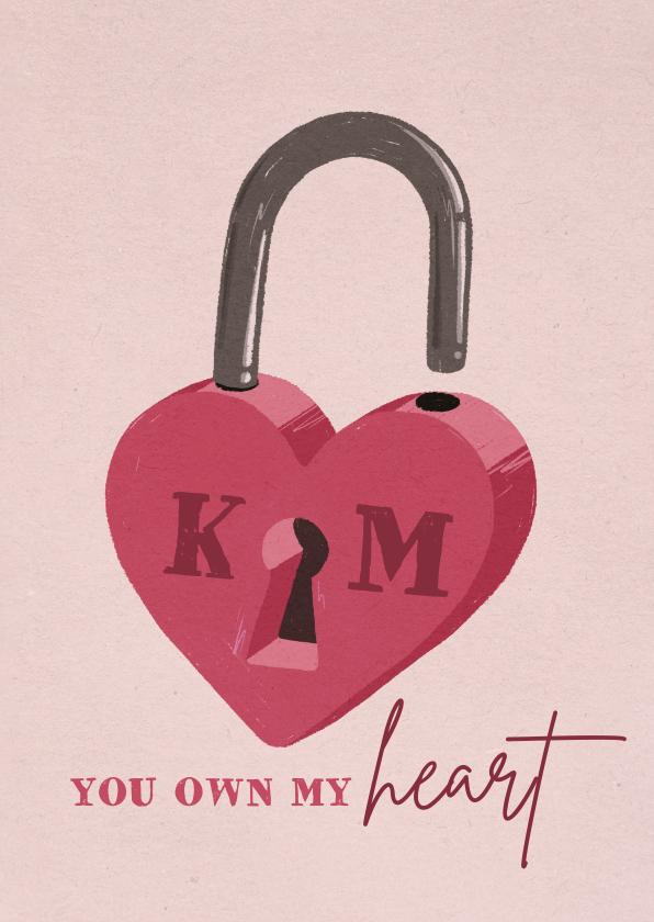 Valentijnskaarten - Valentijnskaart liefdeslot