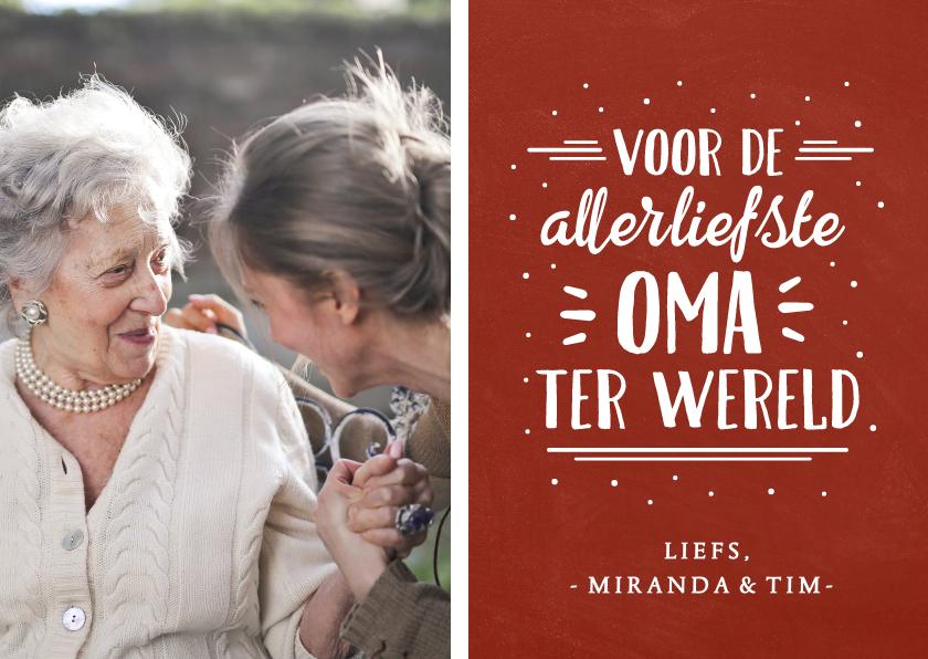 Valentijnskaarten - Valentijnskaart met foto voor de liefste oma ter wereld