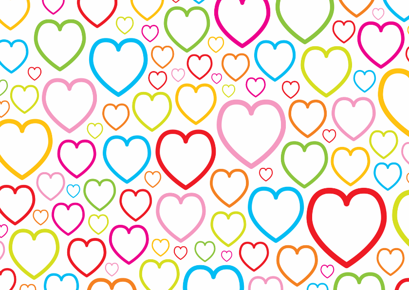 Valentijnskaarten - Valentijnskaart met hartjes