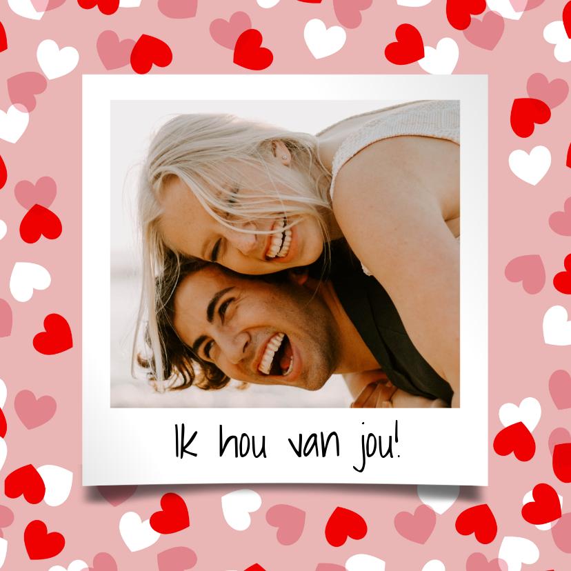 Valentijnskaarten - Valentijnskaart met hartjeskader en foto