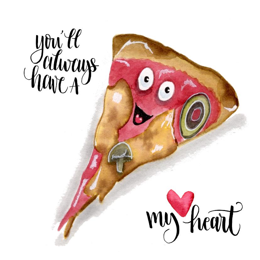 Valentijnskaarten - Valentijnskaart Pizza