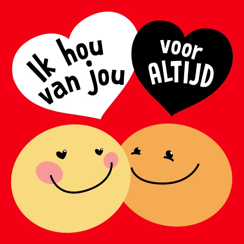 Valentijnskaarten - Valentijnskaart Smiley