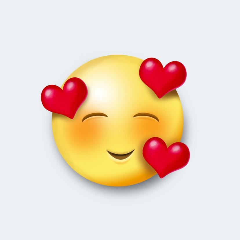 Valentijnskaarten - Valentijnskaart Verliefde smiley