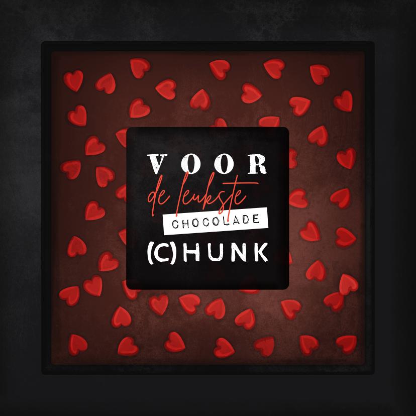 Valentijnskaarten - Valentijnskaart voor de leukste chocolade (c)hunk