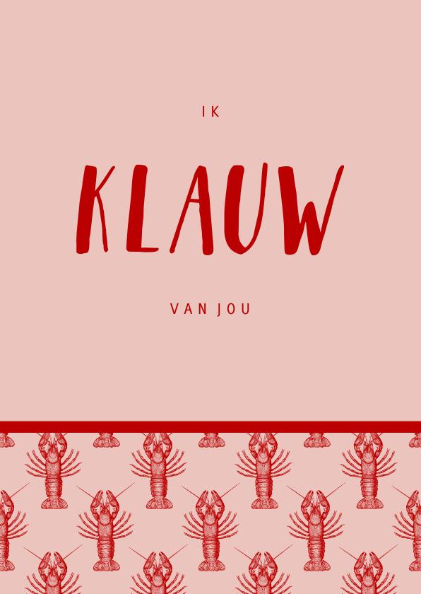 Valentijnskaarten - Valentijnskaart you are my lobster patroon