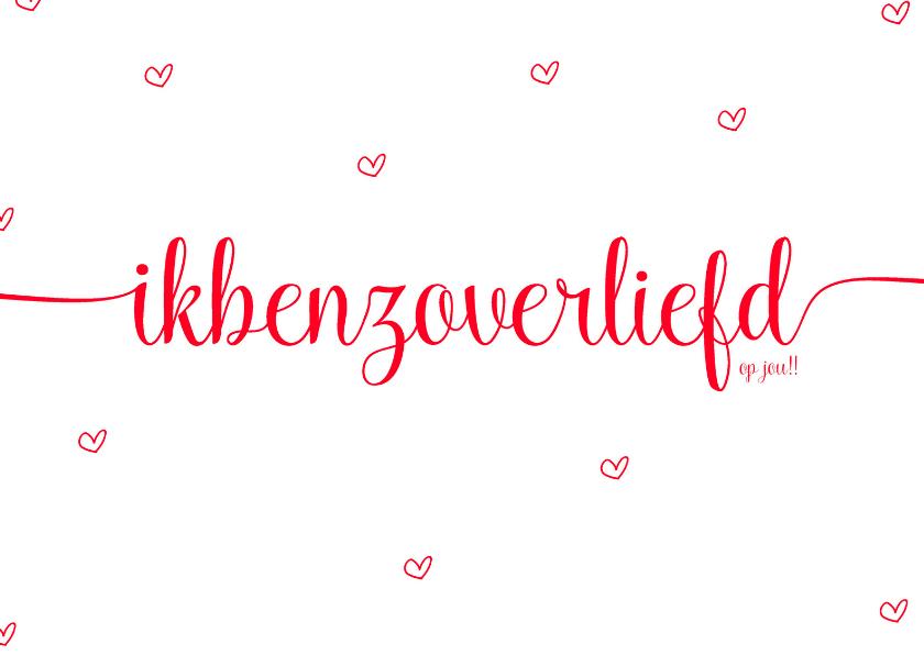 Valentijnskaarten - Valentijnskaart zo verliefd