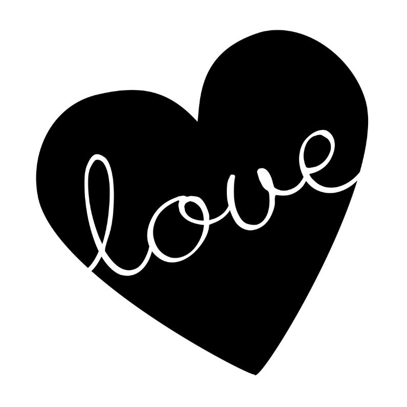 Valentijnskaarten - Valentijnskaart zwartwit love