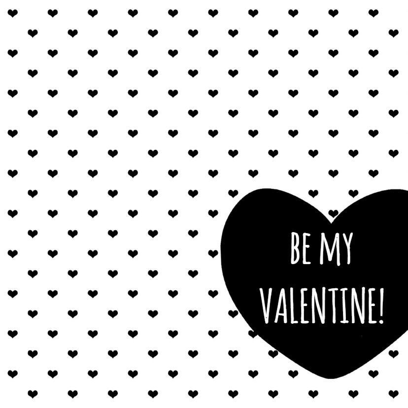 Valentijnskaarten - Valentijnskaart ZwartWit - WW