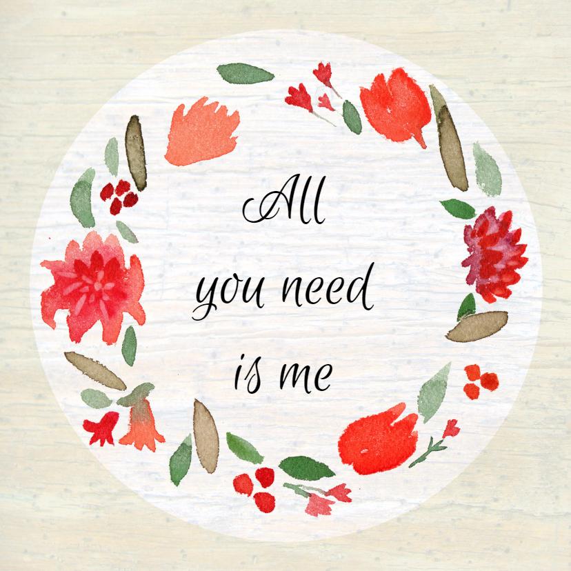 Valentijnskaarten - Valentijnskaartje krans