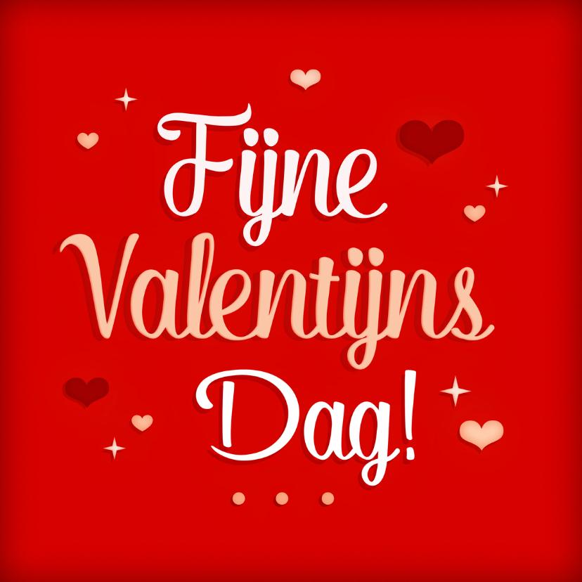 Valentijnskaarten - Vrolijke valentijnskaart hartjes