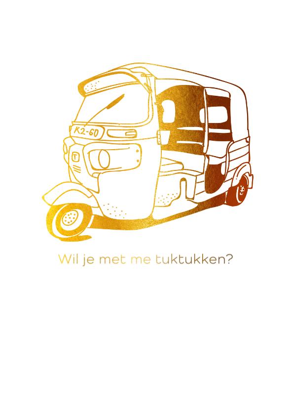 Valentijnskaarten - Wil je met me tuktukken?
