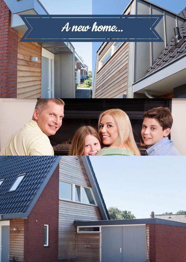Verhuiskaarten - A new home... a new adress - BK