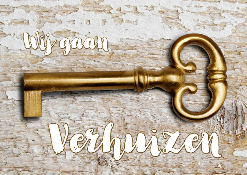 Verhuiskaarten - Adreswijziging Gouden Sleutel OT