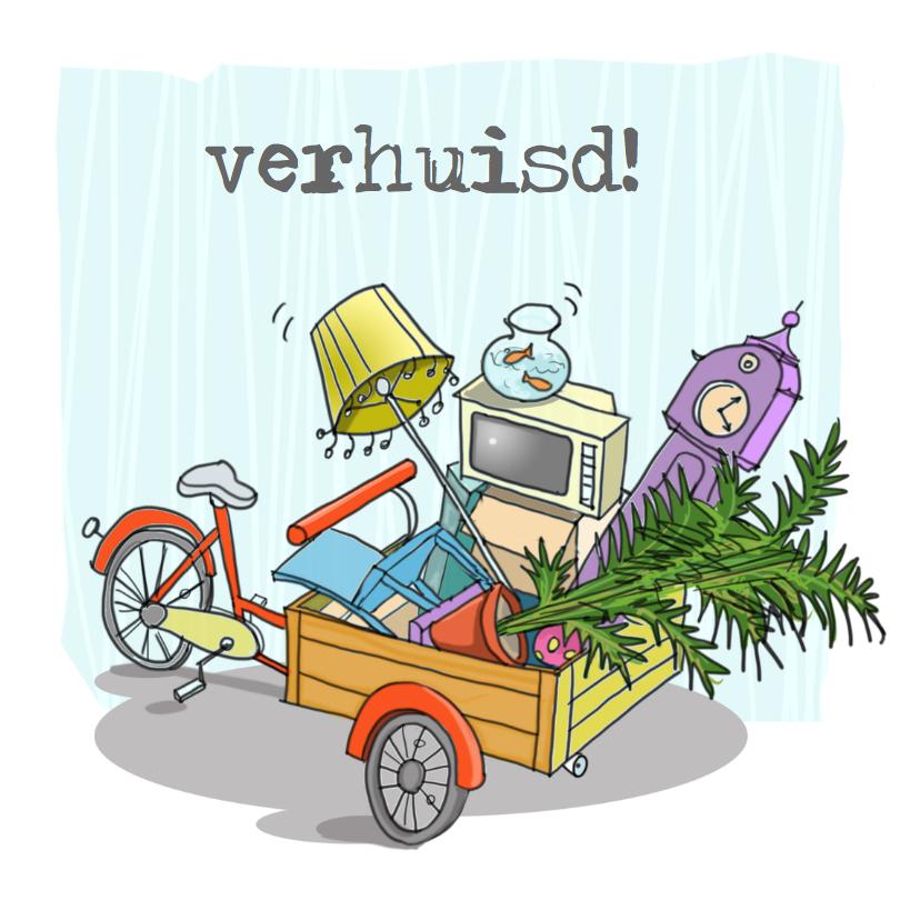 Verhuiskaarten - Bakfiets Anet illustraties