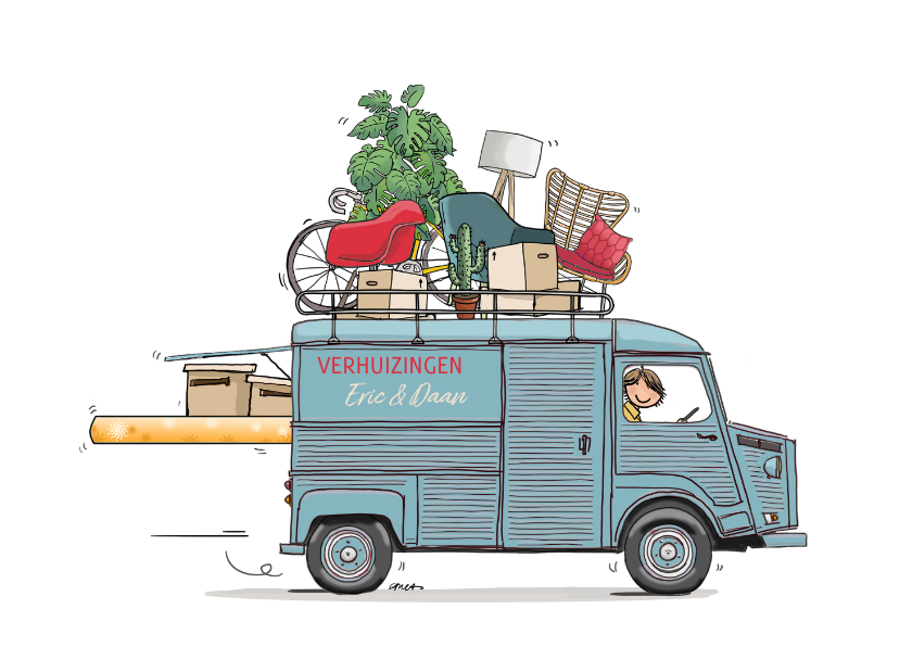 Verhuiskaarten - Citroen HY bus verhuiskaart