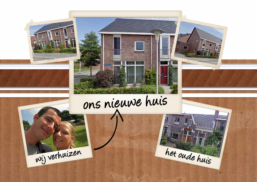 Verhuiskaarten - Collage Ons nieuwe huis - BK