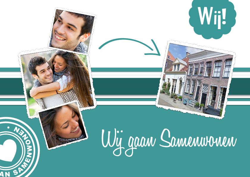 Verhuiskaarten - Collage wij gaan samenwonen - BK