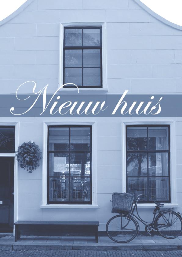 Verhuiskaarten - Fotokaart nieuw huis grijsblauw