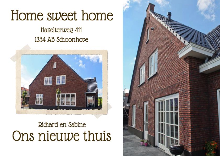 Verhuiskaarten - Home sweet home - BK