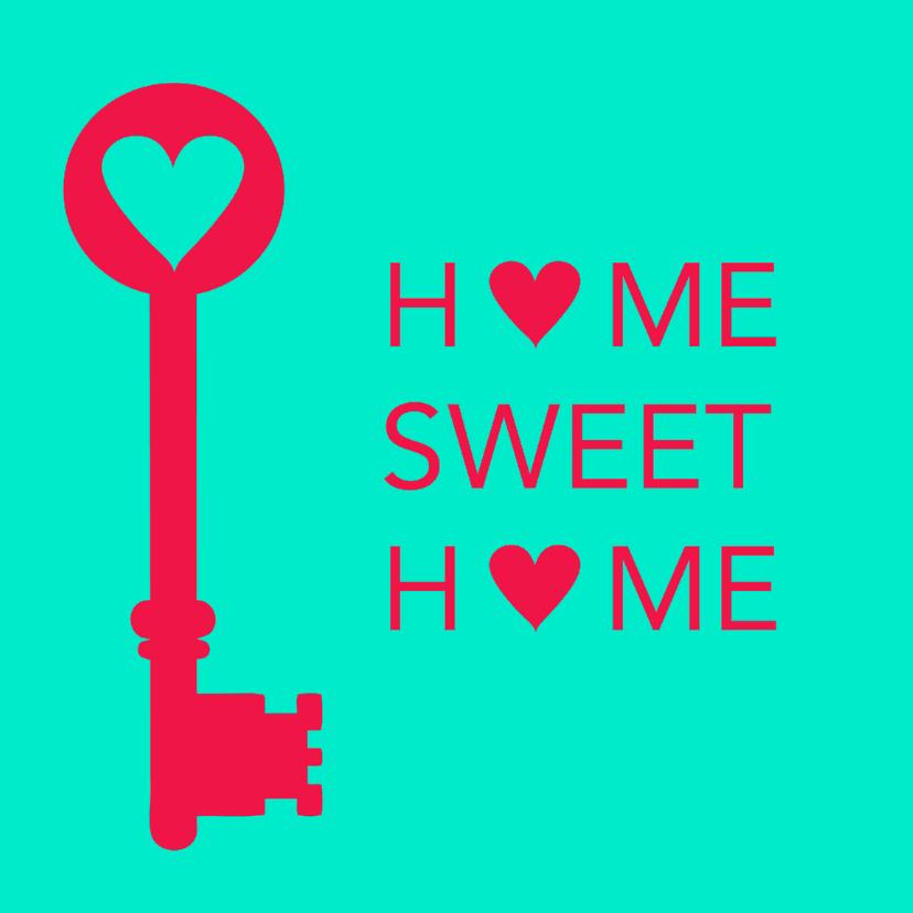 Verhuiskaarten - Home sweet home, sleutel