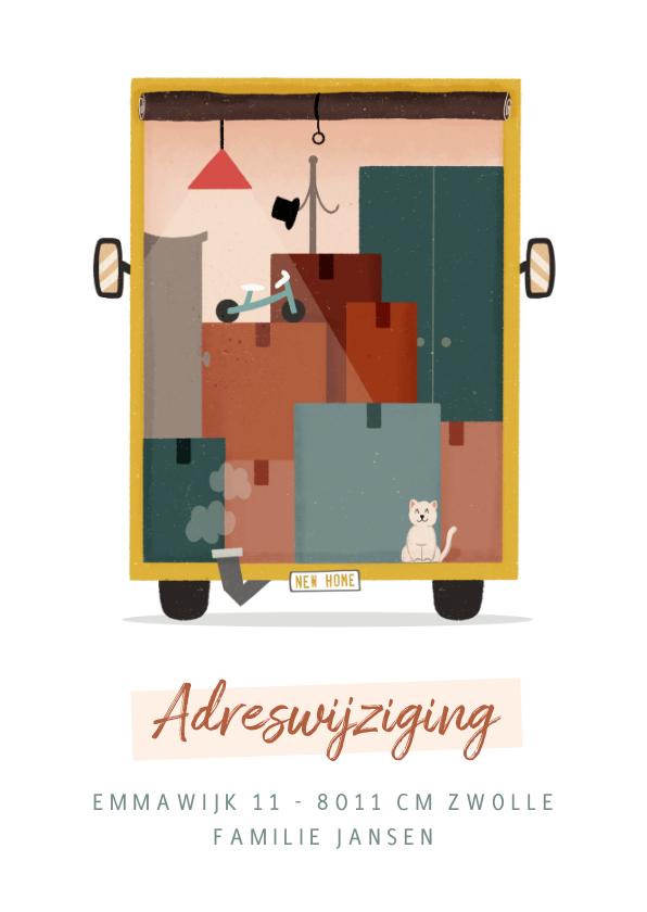 Verhuiskaarten - Kaart adreswijziging verhuiswagen