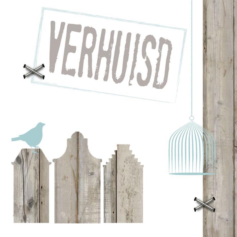 Verhuiskaarten - Kaart huisjes verhuisd