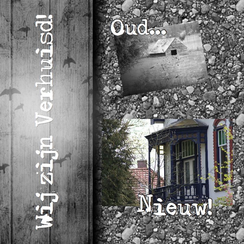 Verhuiskaarten - Oud en nieuw zelf afmaken