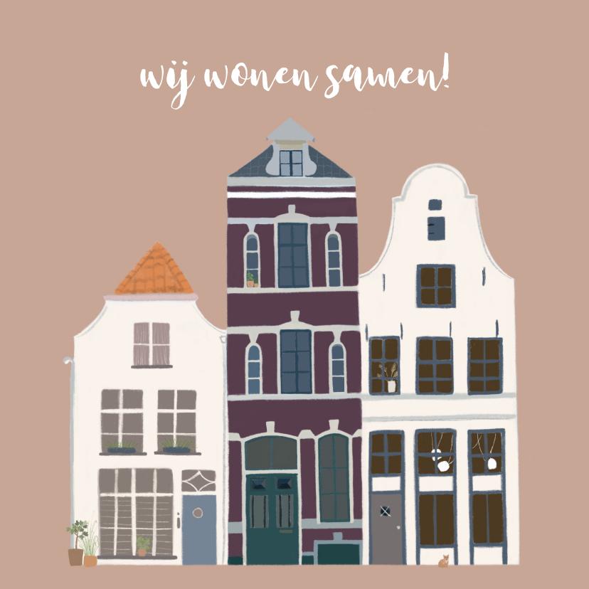 Verhuiskaarten - Samenwoonkaart karakteristieke huizen